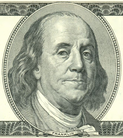 portrait of Ben Franklin