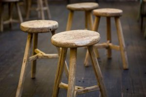 photo of group of stools