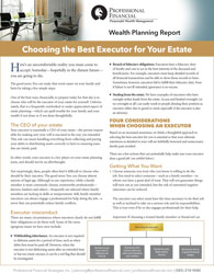 """cover image of Wealth Planning report, """"Choosing the Best Executor for Your Estate"""""""