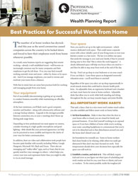 cover image of Wealth Planning Report: Best Practices for Successful Work from Home