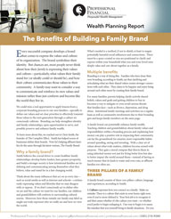 cover of Wealth Planning Report: The Benefits of Building a Family Brand