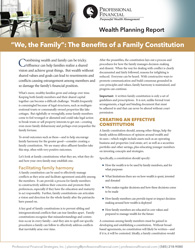 """cover image of Wealth Planning Report, """"We, the Family"""": The Benefits of a Family Constitution"""