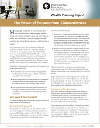 cover of Elite Planning Report: The Power of Purpose from Connectedness
