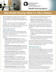 cover image of Wealth Planning Report: Elite Wealth Planning - What it Is, Why it Matters