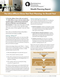 cover image of Wealth Planning Report: The Ultra-Affluent Stress Test Their Planning - So Should You!